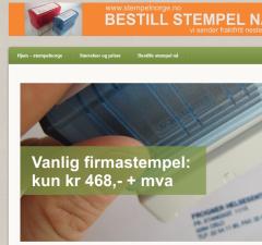 Utsnitt fra www.stempelnorge.no