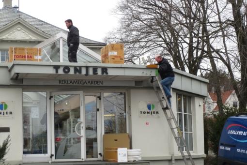 Kalland i sving på taket!